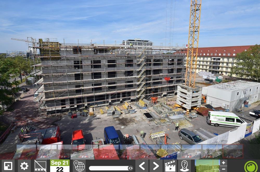 Webcam der Baustelle
